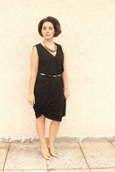 curvy fashion blogger little black dress Curvy outfit  -- PC