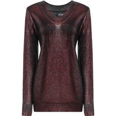 Yoins Metallic Foil Jumper with Deep V Back (40 AUD) ❤ liked on Polyvore featuring tops, sweaters, black, deep v back sweater, metallic top, sparkle sweater, metallic sweater and round neck sweater