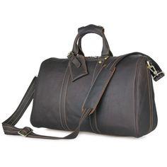 9928701063af bagail.com Vintage Crazy Horse Genuine Leather Travel bag Men Duffel Bag  Luggage Travel Bag