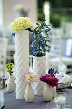 Milk glass + lovely and simple flowers
