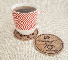 DIY Twin Peaks Coasters with Free Printable Transfers - Polka Crafts