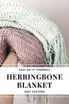 Easy Knitting Patterns, Free Knitting, Start Knitting, Knitting Blanket Patterns, Simple Knitting Projects, Knitted Throw Patterns, Knitting For Beginners, Scarf Patterns, Knitted Blankets Pattern Free