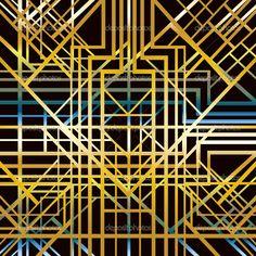Art deco geometric pattern — Stock Vector © Smirno #