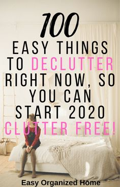 100 Things to Declutter Now! 100 ideas for things you can declutter right now and never miss! This is perfect for getting your home clutter-free and organized going into Declutter Home, Declutter Your Life, Organizing Your Home, Organizing Tips, Getting Rid Of Clutter, Getting Organized, Organized Home, House Cleaning Tips, Cleaning Hacks