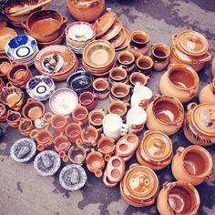 Vasijas de barro.