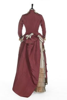 """fripperiesandfobs: """" Worth visiting dress ca. 1875 From Kerry Taylor Auctions """""""