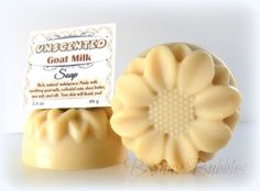 GOAT MILK Soap UNSCENTED with shea butter and silk - handmade cold process by Bonny Bubbles