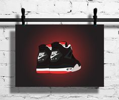 Nike Air Jordan 4 1999 Retro Black Cement by SneakerheadArtwork