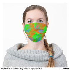 Shop Neon Yellow Cow Print Earloop Face Mask created by STARGATEZ. Psychedelic Colors, Cool Masks, Funky Design, Cow Print, Neon Yellow, 2 Colours, Snug Fit, Sensitive Skin, Cool Designs
