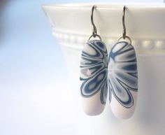 Polymer Clay Earrings featuring Abstract by WiredOrchidJewelry