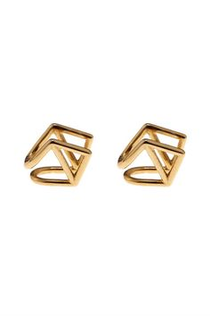 The Not-So-Typical Stud If you're tired of losing the tiny rubber stopper for your studs, try this ear cuff for size: You squeeze the geometric shape into place so it sits comfortably — but securely — on your ear.  Coops London Kite Gold-Plated Earlobe Cuffs, $188, available at Matches Fashion.