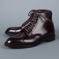 Gentlemans Club, Alden Cordovan, Alden Boots, Leather Men, Leather Boots, Shoe Sketches, Dress With Boots, Dress Shoes, Business Shoes