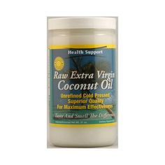 Coconut Oil is amazing for cooking, health, and beauty needs. Try Health Support Raw Extra Virgin Coconut Oil