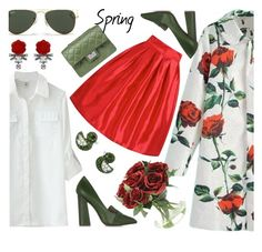 """""""Spring Floral"""" by jiabao-krohn ❤ liked on Polyvore featuring Tory Burch, Ray-Ban, Design Inverso and Darya London"""