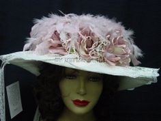 ROSE color Old West Downton Abbey style Elsie Massey Victorian Hat 1411