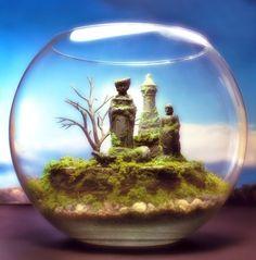 Enchanted Chess Fantasy   Terrarium / Diorama  Mini by Megatone230, $88.00