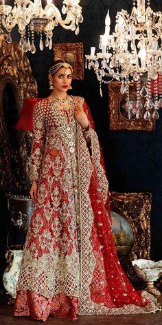 Pakistani Bridal Dresses Maria B Latest Collection 2017 Bridal Dresses 2018, Western Wedding Dresses, Red Wedding Dresses, Ball Dresses, Bridal Gowns, Ball Gowns, Wedding Wear, Wedding Parties, Wedding Hijab