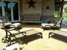 Volare Sling And Cushion Outdoor Furniture By Mallin Patio Furniture