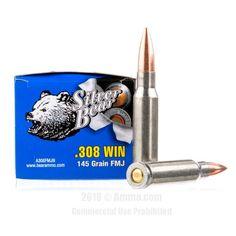 Silver Bear 308 Win Ammo - 500 Rounds of 145 Grain FMJ Ammunition #308Winchester #308WinAmmo #SilverBear #SilverBearAmmo #SilverBear308Win #FMJAmmo