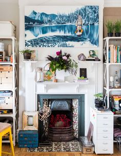 The colourful, eclectic terrace house of a Sydney artist and her family.