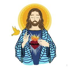 Pin by princess stephanie on sacred heart рисунки, христос, Catholic Art, Catholic Saints, Religious Art, Catholic Wallpaper, Jesus Painting, Jesus Art, Princess Stephanie, Heart Of Jesus, Sacred Heart