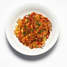 Spaghetti Scallion Pancakes
