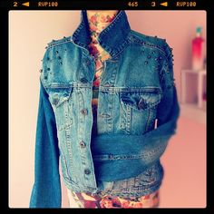 My lovely! #jean #jacket #studded - @buttiburcin- #webstagram