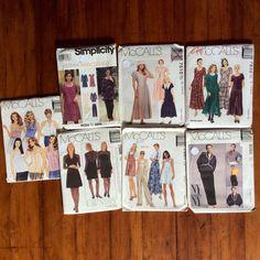 Women's Sz 14 16 18 Sewing Patterns Dresses Top Pants Jacket Jumper Jumpsuit Lot #McCallSimplicity