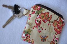 PDF Sewing Pattern / Tutorial  Zippered Key Ring by blushbunny, $4.50