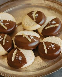 Sweet Paul's Black & White Shortbread Cookies with Sea Salt & Candied Ginger