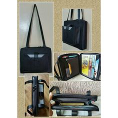 Black service organizer with shoulder strap by JWministrysupplies