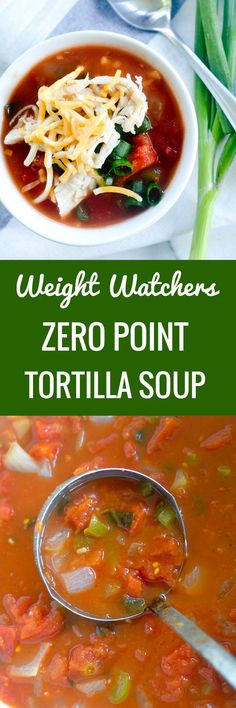 soups recipes Weight Watchers Zero Point Tortilla Soup – Recipe Diaries Source by dannyrandi Plats Weight Watchers, Weight Watchers Soup, Weight Watcher Dinners, Ww Recipes, Cooking Recipes, Healthy Recipes, Recipies, Crockpot Recipes, Freezer Recipes
