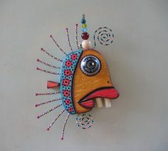 Hey, I found this really awesome Etsy listing at https://www.etsy.com/listing/188480701/twisted-minnow-iii-original-found-object