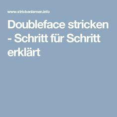 Doubleface stricken - Schritt für Schritt erklärt