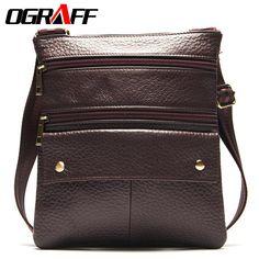 cf9594876d02 OGRAFF Famous brand man bag Genuine leather bag Shoulder men messenger bags  Casual men leather bags