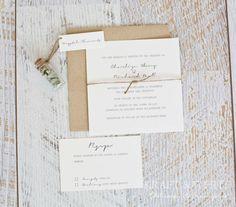 Depósito para invitación de boda set 10 SUITE: por KRAFTANDWHITE
