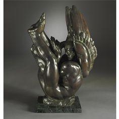 Donald De Lue (1897-1988) ICARUS signed in the mold De Lue/ sc 1934  ©1987  7/12 patinated bronze H. 31 1/2 in. Literature D. Roger Howlett , Donald De Lue: Gods, Prophets, and Heroes, New York, 1990.