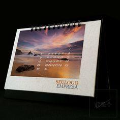 Calendário de mesa personalizado 2015. NATUREZA. LOJA THE+ www.themais.com.br