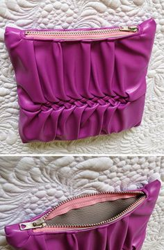 Still playing with faux leather and Canadian smocking - Geta's Quilting Studio