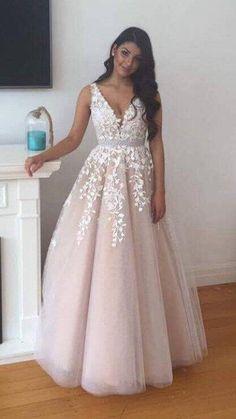 Stunning Prom Dress V Neckline BPD0435