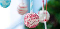 Christmas Cake Pops | Rachel Allen Christmas Cake Pops, Christmas Desserts, Christmas Ideas, Types Of Sponge Cake, Rachel Allen, Childrens Meals, Dessert Decoration, High Tea, Sweet Treats