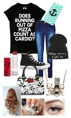 """""""Untitled #9"""" by movingtosydney ❤ liked on Polyvore featuring City Chic, Converse, CO, Korres, Kiel Mead Studio and plus size clothing"""