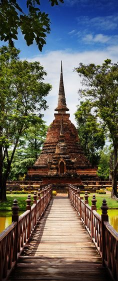 Sukhothai Historical Park . Thailand - this place is really good i've been here once just ride a bicycle around - *cost for rent a bike is 30 baht but i don't know if they have another cost for foreigner :/ I like Sukhothai better because there're not a lot of school's field trips like in Ayutthaya