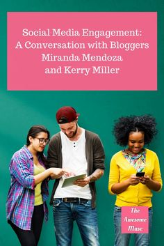 A conversation with bloggers Miranda Mendoza and Kerry Miller about social media engagement Business Entrepreneur, Business Tips, Online Business, Entrepreneur Ideas, Online Marketing, Social Media Marketing, Marketing Strategies, Social Media Engagement, Starting Your Own Business