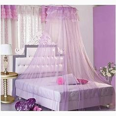 Utility Type Ceiling Hanging Round Royal Princess Bed Mosquito Nets Curtain – USD $ 27.49