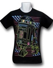Star Wars Fluorescent R2-D2 30 Single T-Shirt Logotipo Digitado 7a8d7cd1f1b01