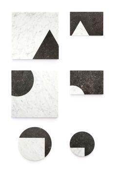 VENN VIEW, marble platters to create your own edible scenes. Design by Studio Jorrit Taekema
