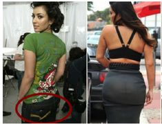 Top Post Today: 14 Shocking photos that prove Kim Kardashian's butt is completely fake