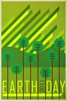 Earth Day 2011 poster I made in Illustrator