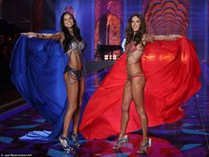 Alessandra Ambrosio and Adriana Lima lead the way at Victoria's Secret Fashion Show 2014   Daily Mail Online